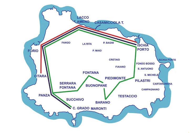 маршруты автобусов на острове Искья